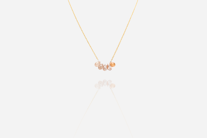 Bijoux Sunstone Gold Necklace