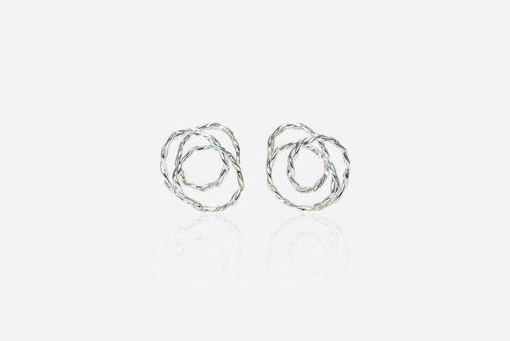 Curlicue Stud Earrings