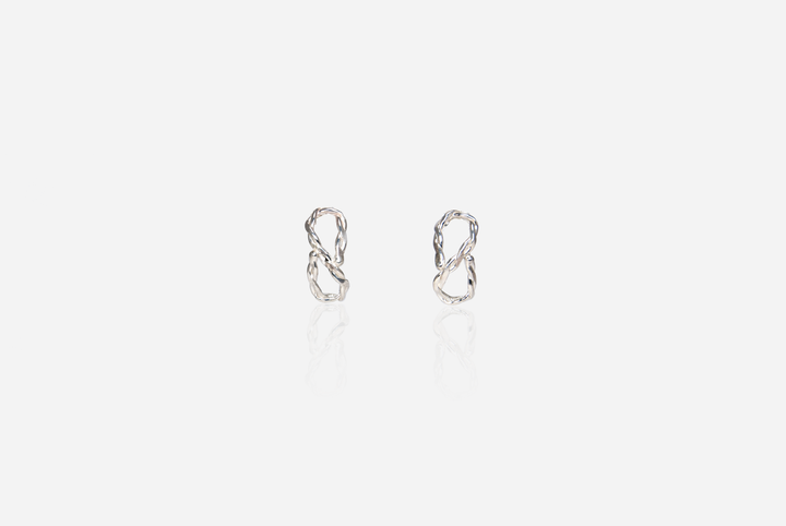 Curlicue Huggie Stud Earrings