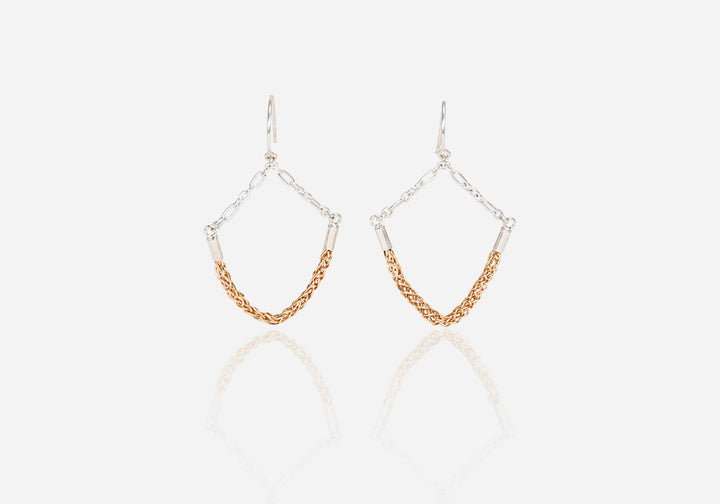 Okta Gold Drop Earrings