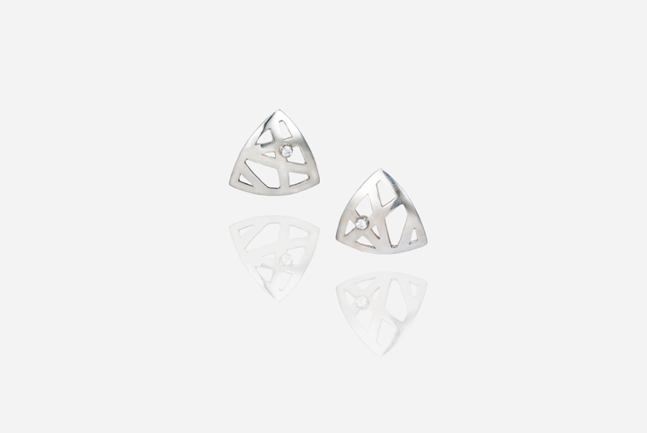 Eyry Stud Earrings with Cubics