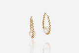 Olivia Gold Drop Pearl Earrings