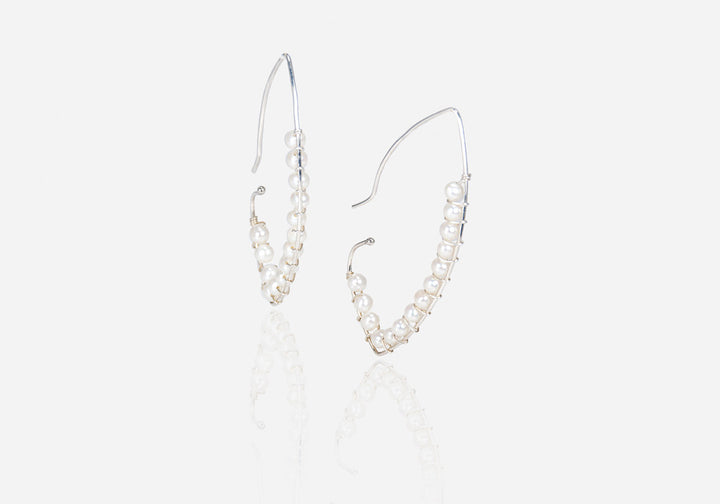String of Pearls Cream Pearl Drop Earrings
