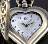 Steampunk Heart Shape Quartz Pocket Watch