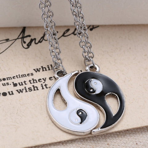 Yin Yang Chain Necklaces - 2 Pieces