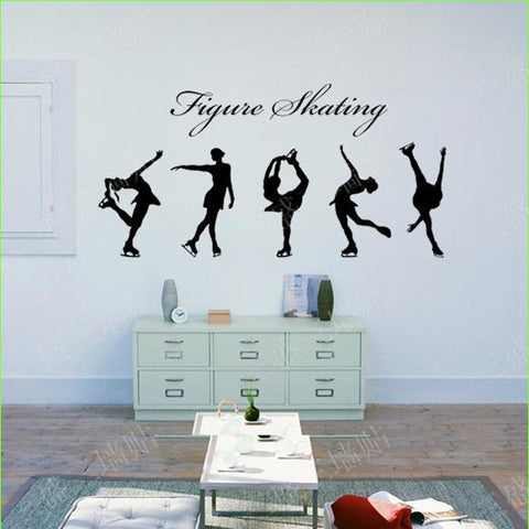 Figure Skating Girls Wall Stickers - 5 Pieces