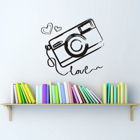 Camera Photography Love Removable Sticker