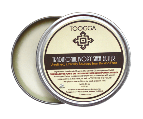 Organic Traditional, Raw, Unrefined, West African Ivory Shea Butter (3.5 OZ) - Toogga