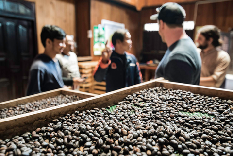 Takengon, Indonesia - roasting coffee beans