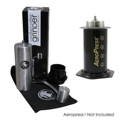Rhino Coffee Gear Hand Grinder with adapter for the AeroPress®