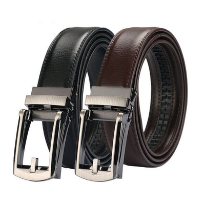 CC Chic Men's Genuine Leather Belt with Automatic Buckle