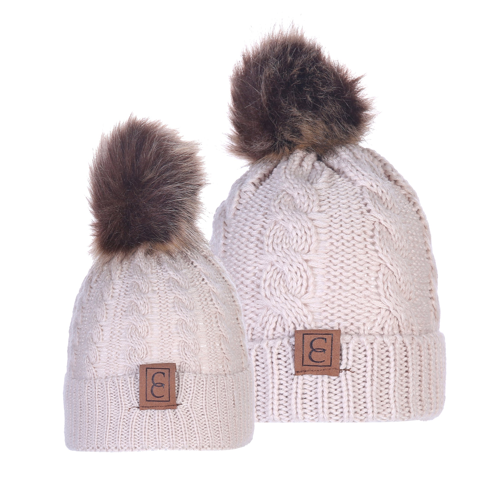 551f34d3fc8d3 cc chic MOM   ME POM BEANIES - Barbados Leather
