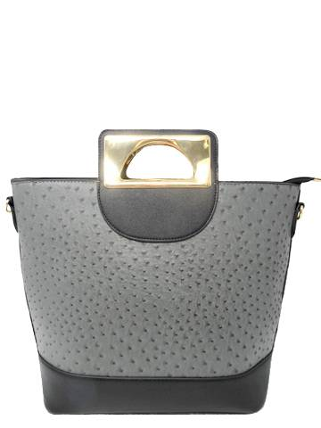 Chic Square leather Handle Handbag