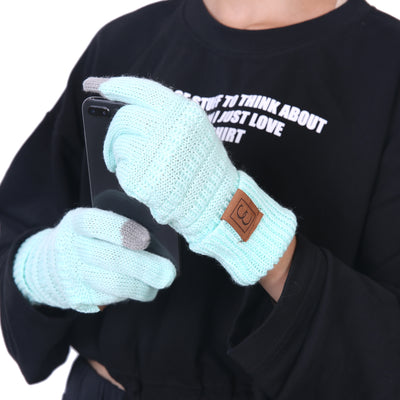 CC CHIC Women's Knit Winter Anti-Slip Touchscreen Gloves