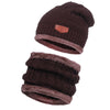 CC Chic Mens Fleece Beanie + Scarf Set