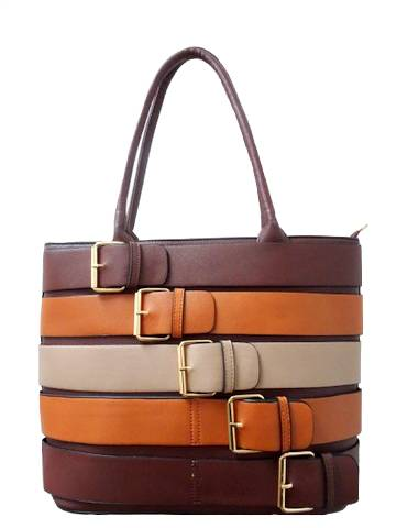 Barbados Belted Leather Handbag
