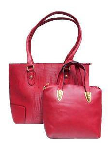 2 PC Leather Tote Handbags