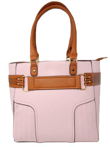 Belted Tote Leather Handbag