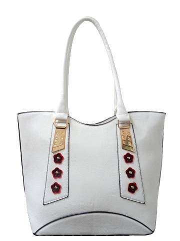 Stylish tote vintage leather handbag