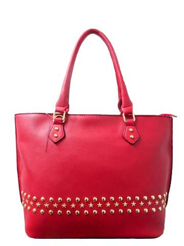 WK Fashion Leather Tote Handbag
