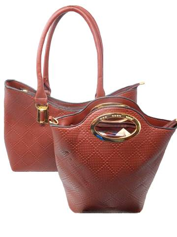 Barbados 2PC Leather Tote Handbag Set