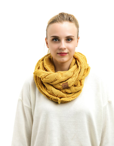 2 Pack: Popular CC Chic Knit Scarf