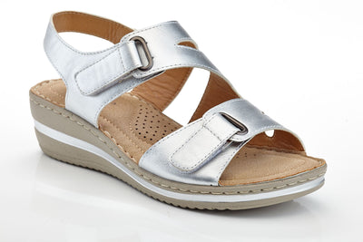 Henry Ferrera Women's Hook-and-Loop Straps Lightweight Comfort Wedge Sandals