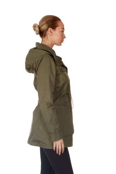TWILL ANORAK HOODED JACKET - WOMEN & PLUS