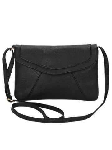 Vintage Leather Flap Messenger Bag
