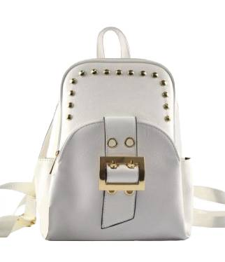 WK Leather Belted Backpack