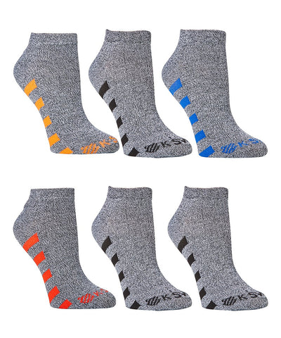 K- Swiss Mens  Black & Gray Color Block 12-Pair Socks Set