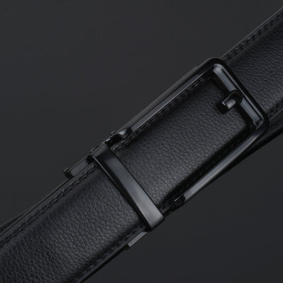 Barbados Leather Men's Solid Buckle with Automatic Ratchet Leather Belt