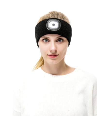 LED Rechargeable Winter Headband
