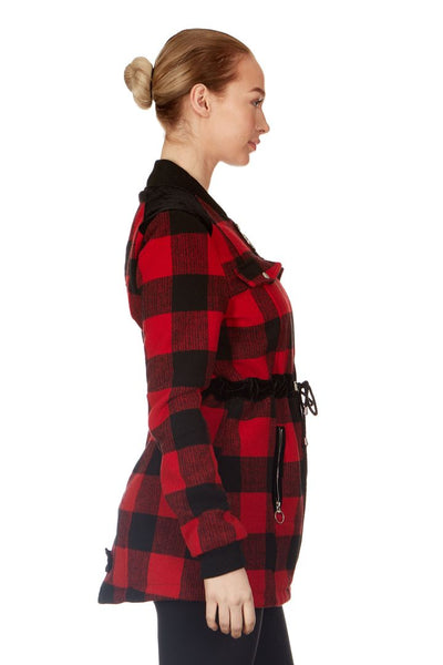 Celsius Buffalo Plaid Jacket Womens & Plus Size