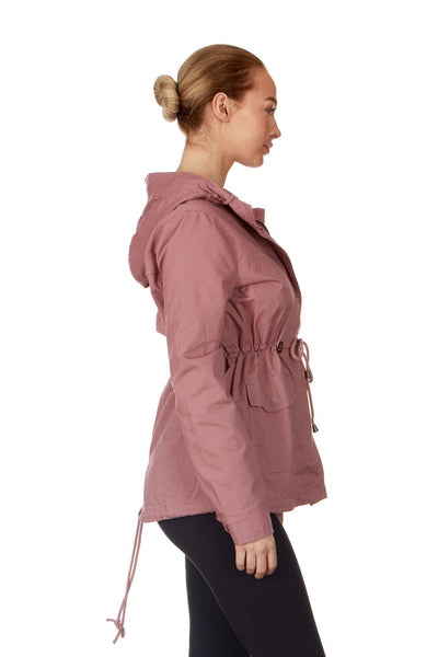 Yoki Twill Hooded Anorak Jacket - Women & Plus