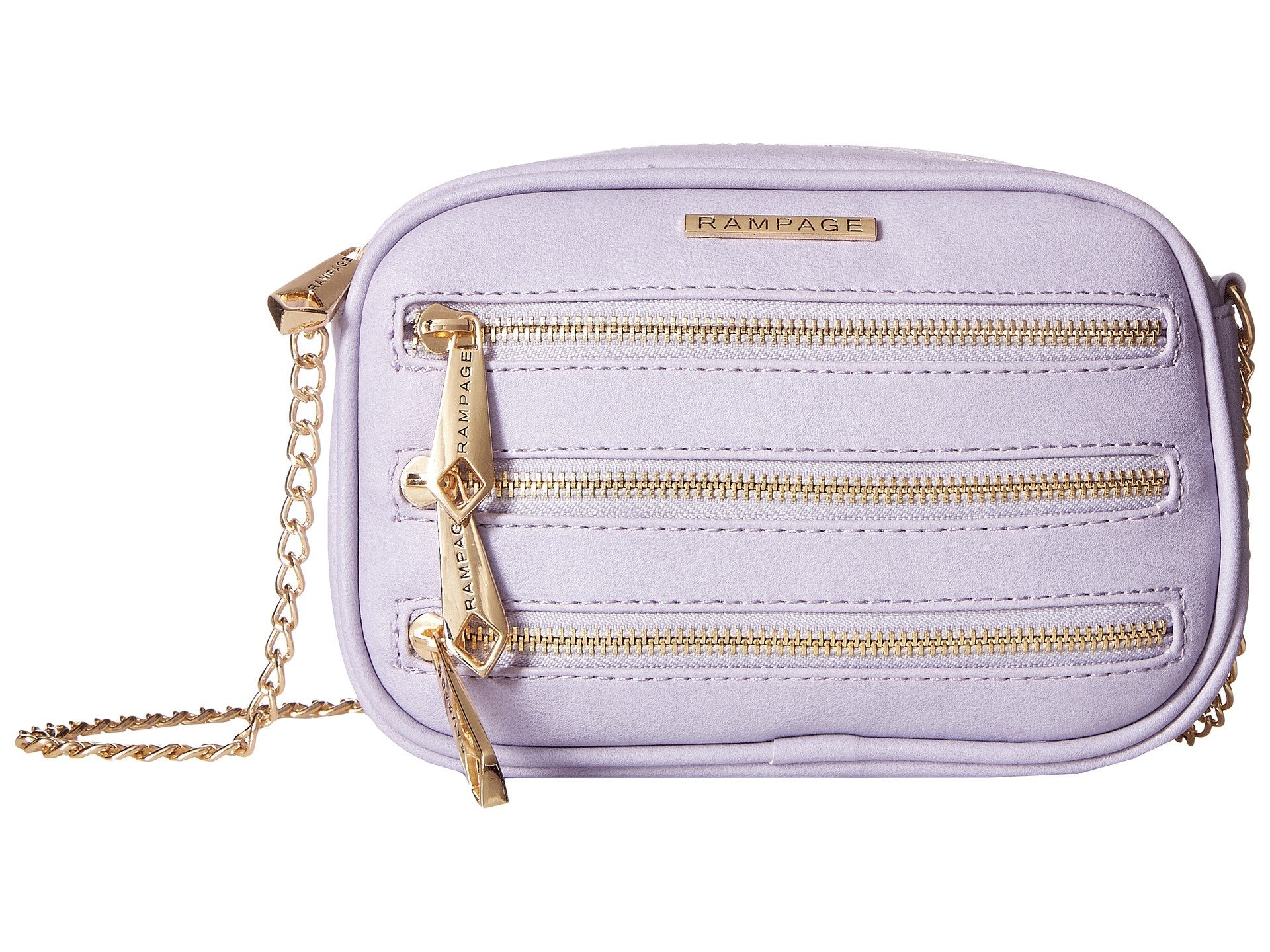 Rampage Tripple Zip Crossbody Bag - Barbados Leather