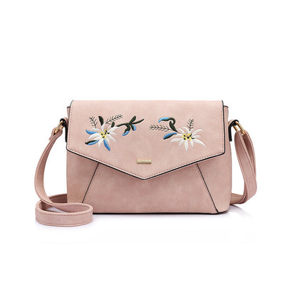 Shoulder Bags Crossbody Bag for Women Flower Embroidery Purse