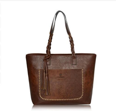 Tote Vintage Faux Leather Handbag