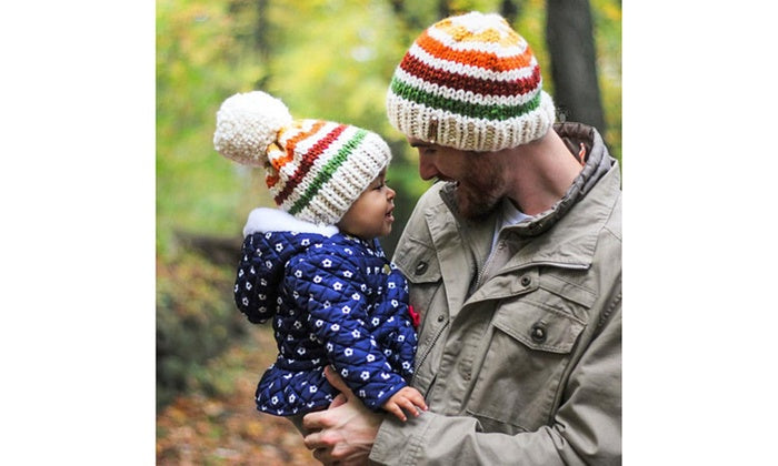 9ef37d0a2b5 Matching Father and Son Beanie - Barbados Leather