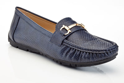 Henry Ferrera Women's Slip-On Loafers with Horsebit Buckle