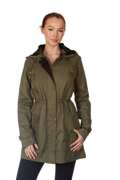 Twill Contrast Anorak Hooded Jacket - WOMEN & PLUS