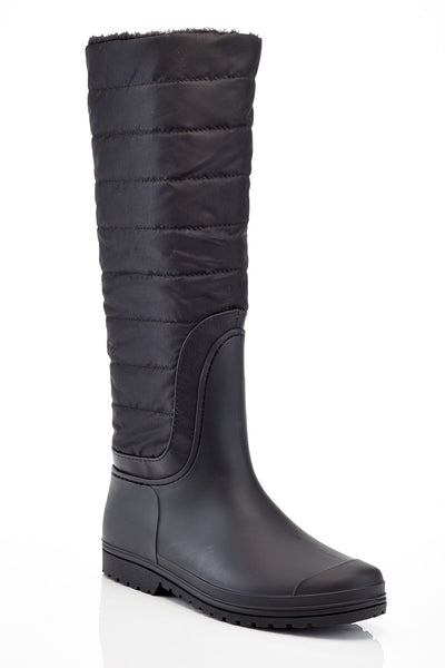 Henry Ferrera Insulated  Quilted Down Fur-Trim Water-Proof Boots