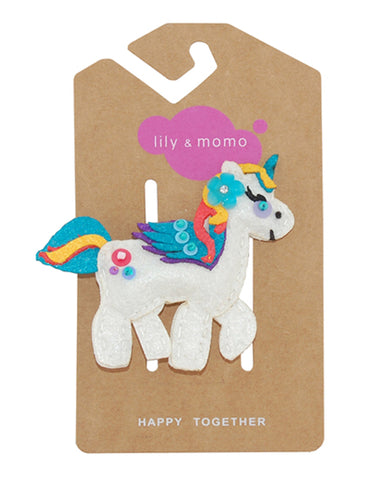 Lily & Momo Hair Clips - Unicorn - E + ME