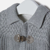 Mayoral Grey Knit Duffle Cardigan - E + ME - 3