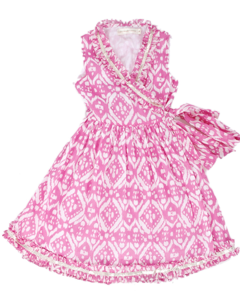 Cupcakes & Pastries Pink Ikat Wrap Dress - E + ME - 1