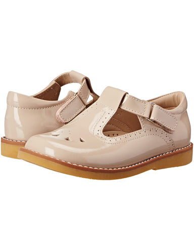 Elephantito Dusty Pink Patent Leather T-Bar Shoes - E + ME - 1