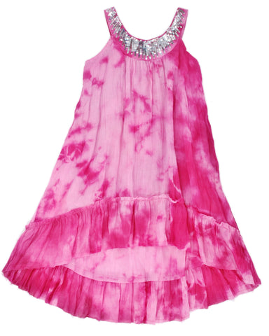 Cupcakes & Pastries Hi-Lo Gauze Dress - Pink - E + ME - 1