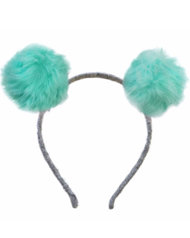Oh Baby Double Fur Pom Headband - Mint - E + ME