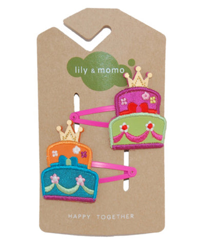 Lily & Momo Hair Clips - Princess Cake - E + ME