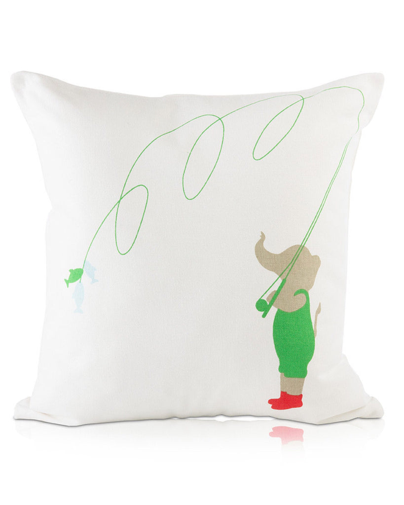 Lil' Pyar Pillow - Fishing Elephant - E + ME